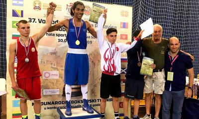 Luiz Araújo pódio do Golden Glove of Vojvodina