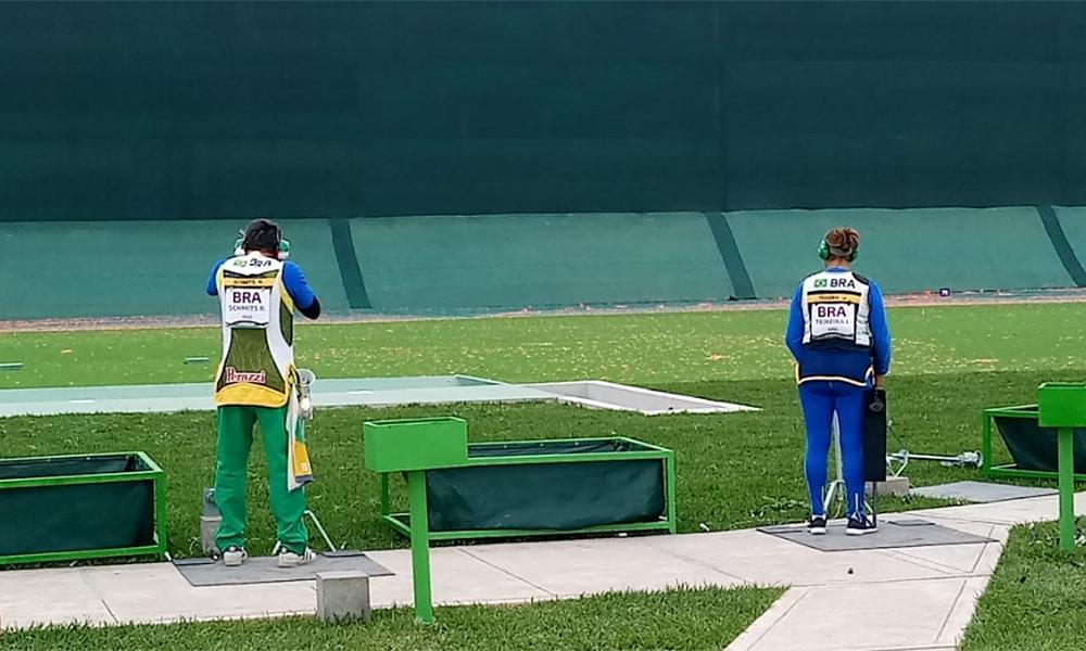 Janice Teixeira e Roberto Schmidts, da fossa olímpica, nos Jogos Pan-Americanos