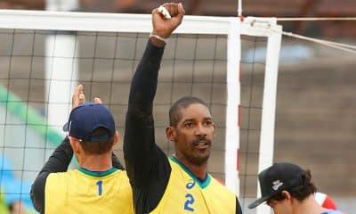 Thiago, do vôlei de praia, nos Jogos Pan-Americanos