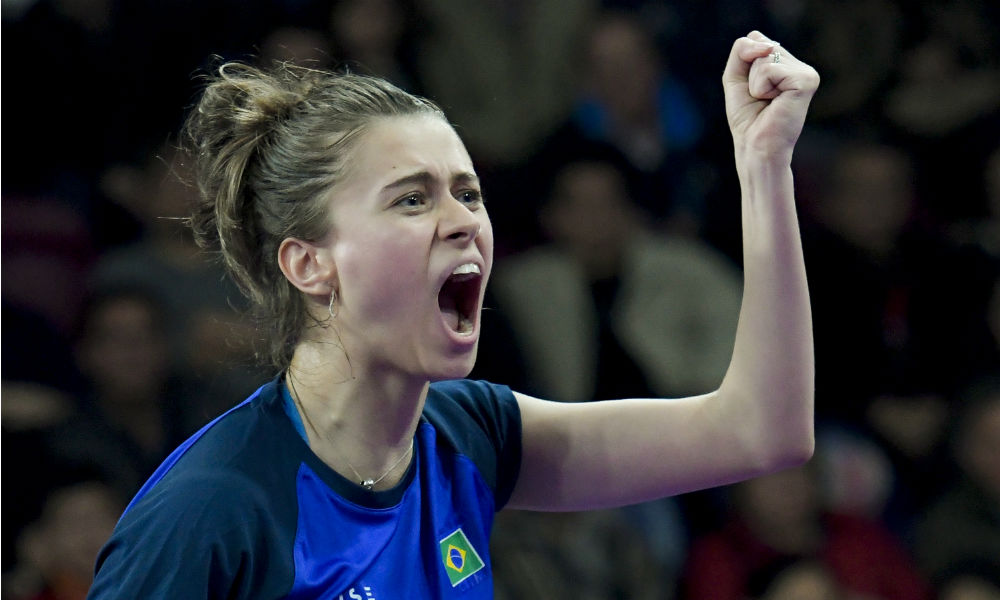 Bruna Takahashi passou pelo classificatório do Aberto da Alemanha de tênis de mesa