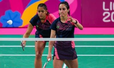 Jaqueline Lima e Samia Lima do badminton