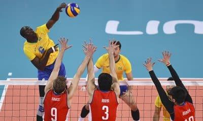 Abouba, do vôlei maculino, nos Jogos Pan-Americanos contra o Chile