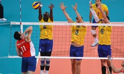 Vôlei maculino, nos Jogos Pan-Americanos contra o Chile