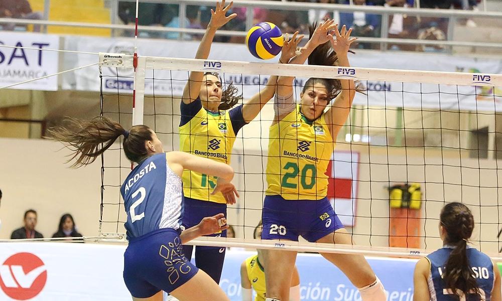 Brasil e Argentina no Sul-Americano de vôlei feminino