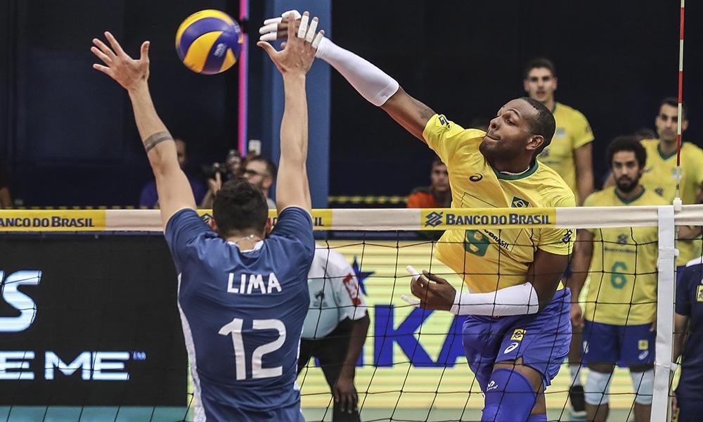 Leal Brasil e Argentina amistoso de vôlei masculino