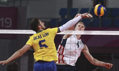 Lucas Lóh, do vôlei masculino. nos Jogos Pan-Americanos