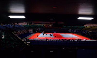 Tatame do Mundial de Judô na Budokan torcida tóquio Jogos Olímpicos COI