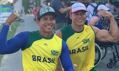 Luis Cardoso e Caio Ribeiro no mundial de paracanoagem