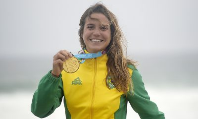 Chloé Calmon, do surfe, nos Jogos Pan-Americanos