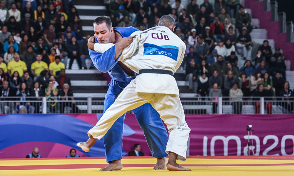 David Moura, no judô nos Jogos Pan-Americanos