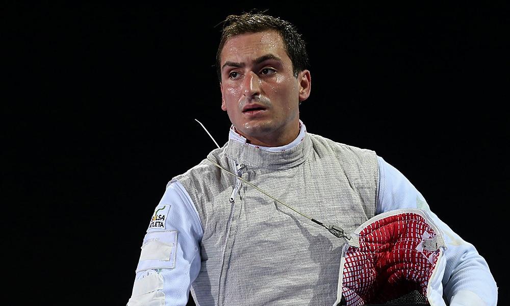 Guilherme Toldo, do florete, na esgrima dos Jogos Pan-Americanos