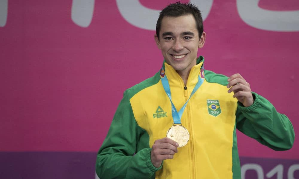 Hugo Calderano, campeão dos Jogos Pan-Americanos de Lima no tênis de mesa
