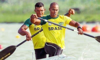 Isaquias Queiroz e Erlon de Souza no Mundial de Canoagem de Velocidade C2 1000 m masculino