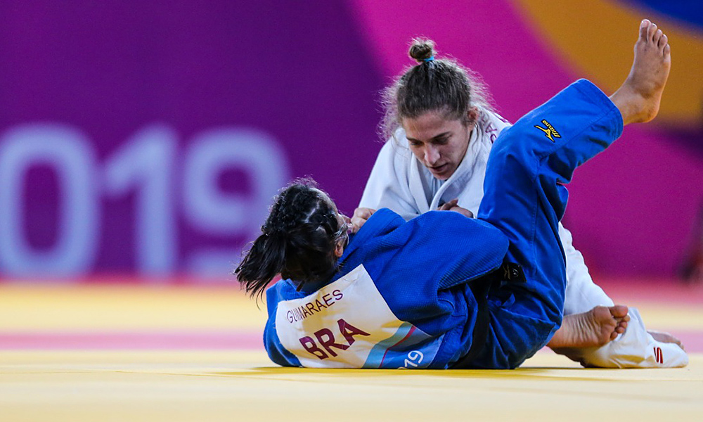 Larissa Farias e Paula Pareto no judô dos Jogos Pan-Americanos
