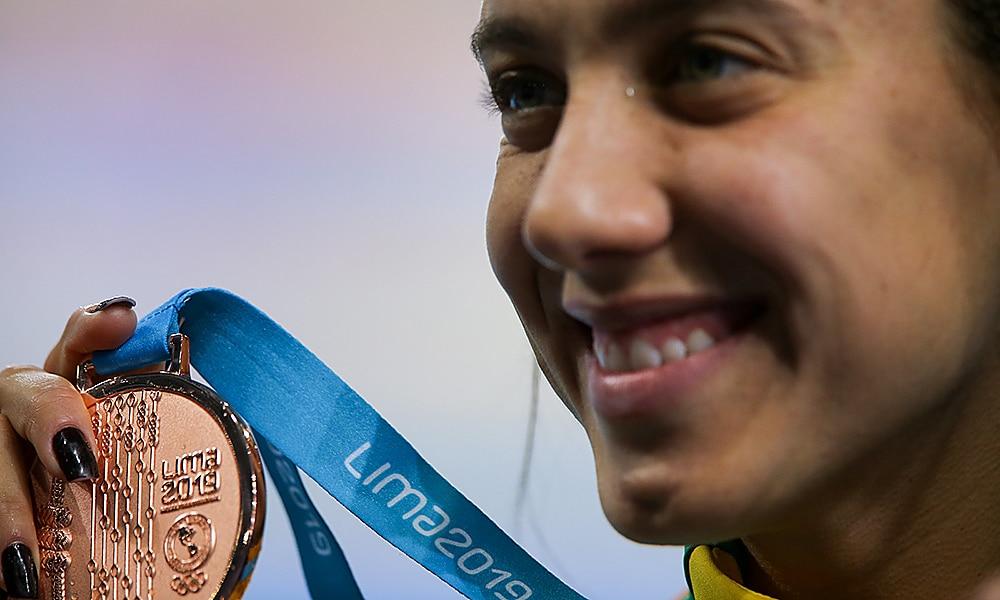 Larissa Oliveira, natação, nos Jogos Pan-Americanos