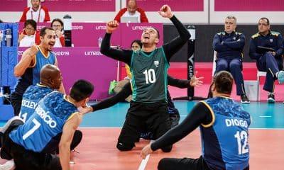 Seleção de vôlei sentado masculino no Parapan de Lima