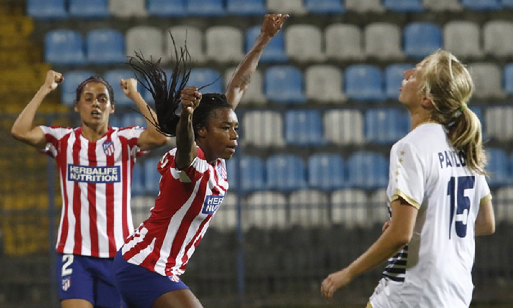 Ludmila Atlético de Madrid Liga dos Campeões futebol feminino Covid-19
