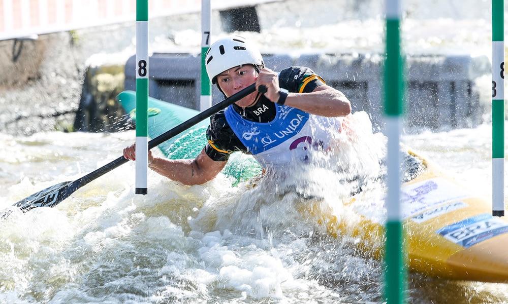 Ana Sátila na etapa de Praga da Copa do Mundo de Canoagem Slalom