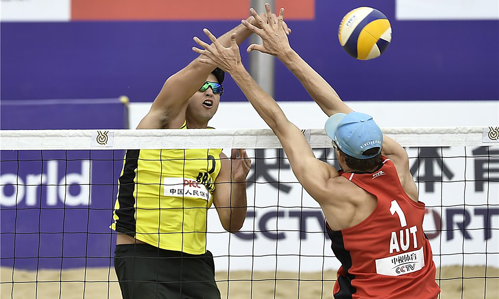 André, no Pré-Olímpico de vôlei de praia