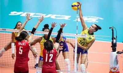 Brasil e Japão na Copa do Mundo de vôlei feminino