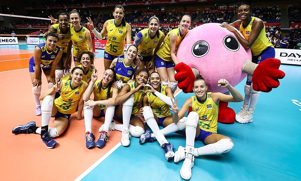 Brasil e República Dominicana na Copa do Mundo de vôlei feminino