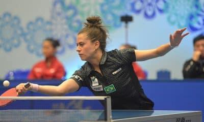 Bruna Takahashi no Pan-Americano de tênis de mesa do Paraguai