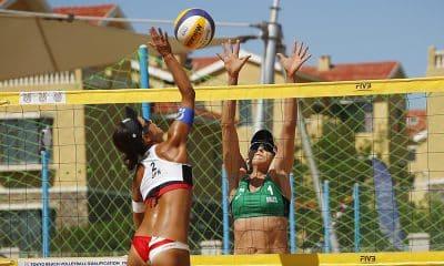 Carol Horta no Pré-Olímpico de Vôlei de Praia