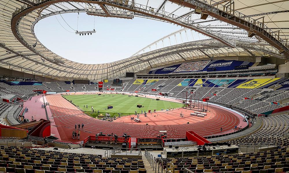 Mundial de Atletismo Estádio Estádio Khalifa, do Mundial de Atletismo adiamento coronavírus liga diamante