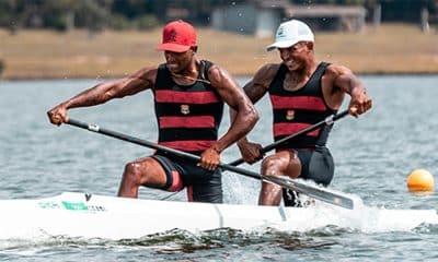 Isaquias Queiroz e Jack Goldmann, no brasileiro de canoagem de velocidade