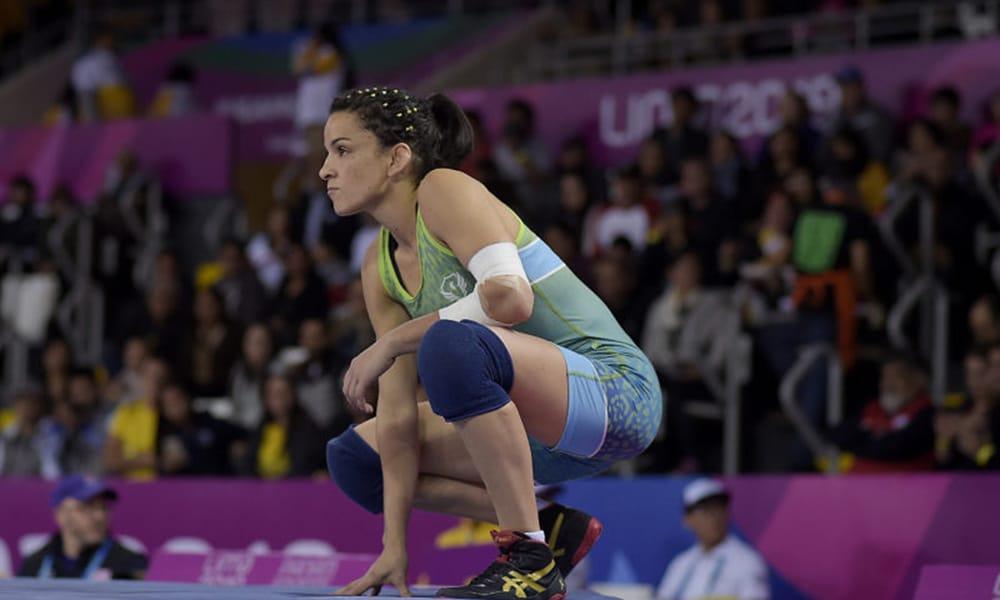 Kamila Barbosa, do wrestling, nos Jogos Pan-Americanos de Lima