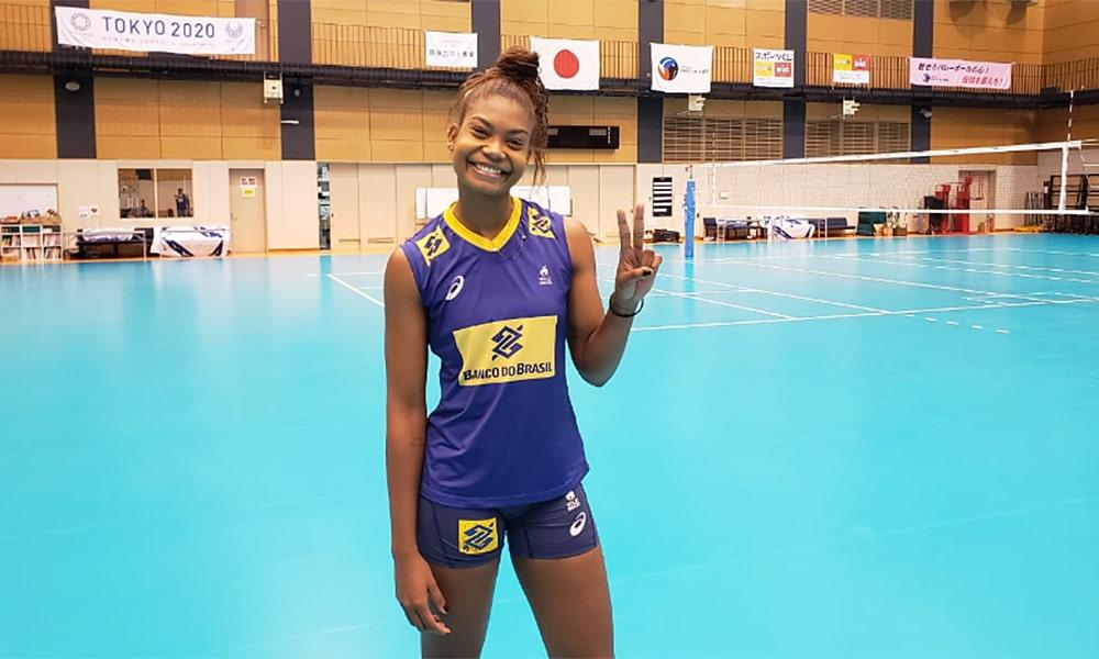 Lorenne, na Copa do Mundo de vôlei feminino