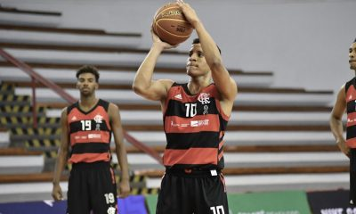 Matheusinho, do Flamengo, na Liga de Desenvolvimento de Basquete