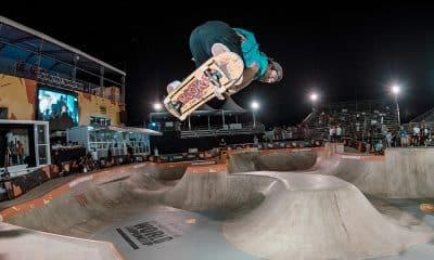 Pedro Barros treina para o Mundial de Skate Park