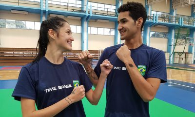 Talisca Reis e Netinho Marques, do taekwondo