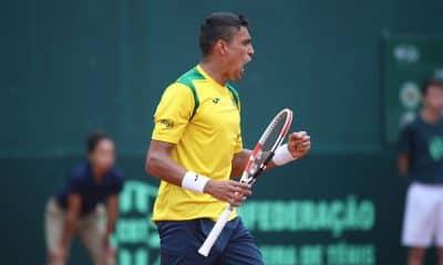 Thiago Monteiro, na Copa Davis