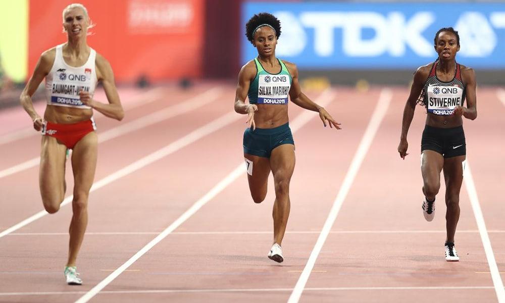 Tiffani Coutinho, nos 400 metros do Mundial de Doha