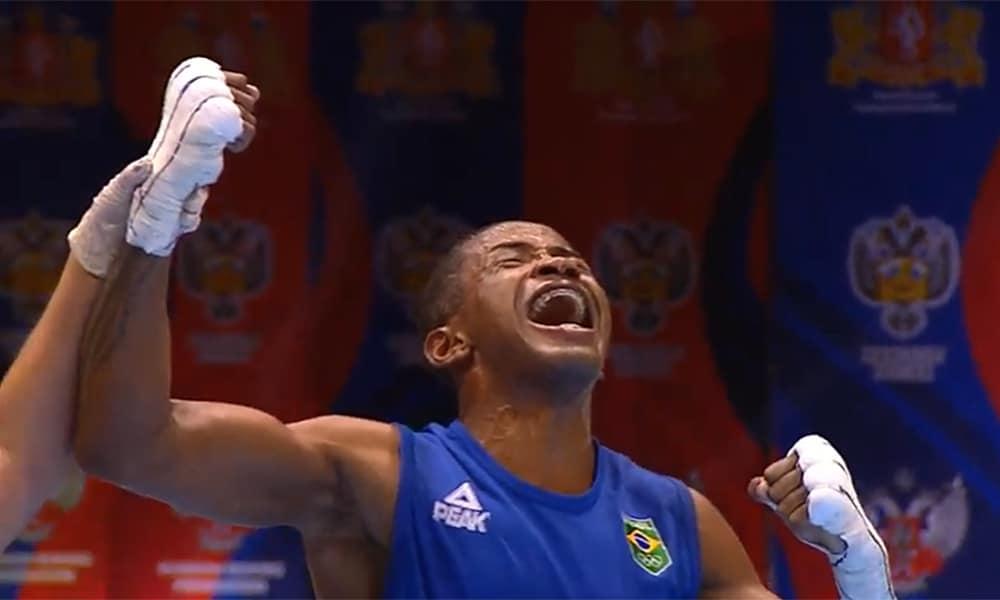 Wanderson Oliveira no Mundial de Boxe