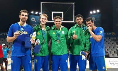 3x3 masculino faz história com pódio nos Jogos Mundiais de Praia