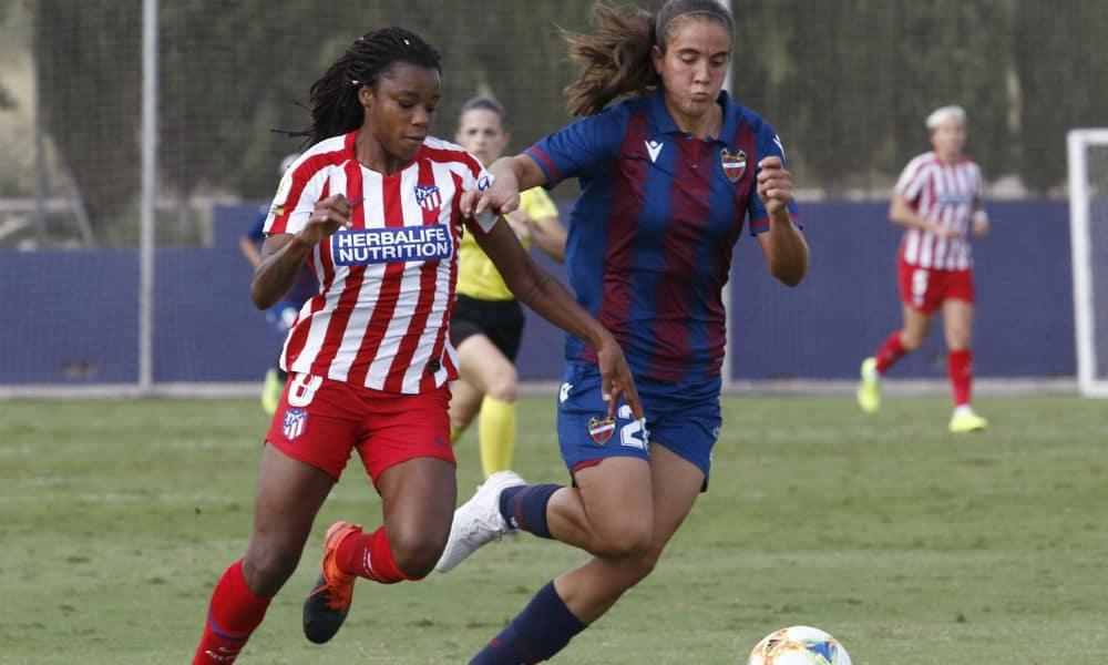 Ludmila, jogadora do Atlético de Madrid; futebol feminino na Europa  durante a pandemia