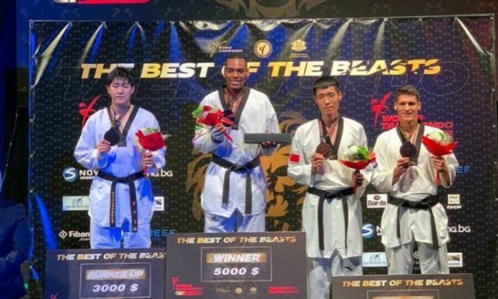 Maicon Andrade é campeão do GP de Sofia de taekwondo, na Bulgária