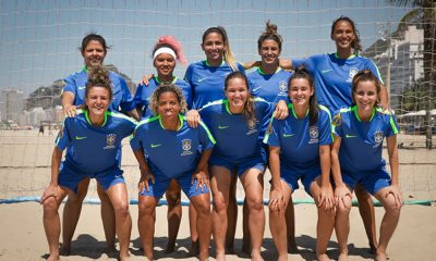 Seleção feminina de beach soccer estará nos Jogos Mundiais de Praia