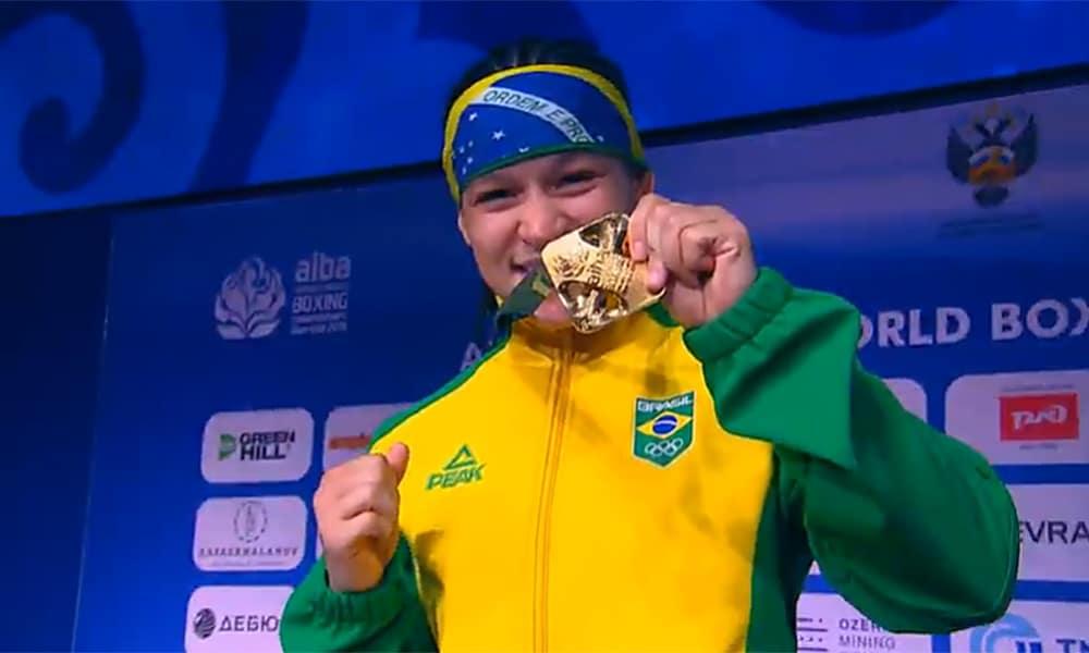 Bia Ferreira, campeã mundial de boxePré-Olímpico das Américas