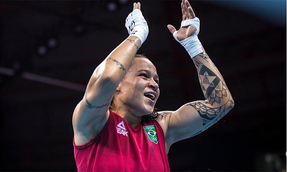 Bia Ferreira no Mundial de Boxe