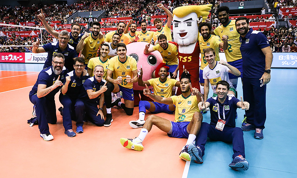 Brasil campeão da Copa do Mundo de vôlei masculino Tabela vôlei masculino Tóquio 2020 jogos olímpicos Renan Dal Zotto