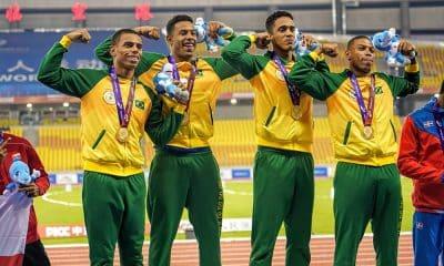 Revezamento 4x100 masculino campeão dos Jogos Mundiais Militares