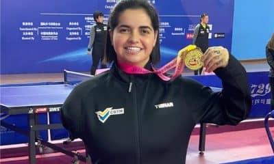 Bruna Alexandre foi ouro no Aberto Paralímpico da China de tênis de mesa
