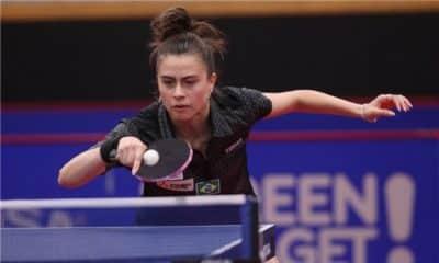 Bruna Takahashi no Pré-Olímpico Latino de Equipes de tênis de mesa
