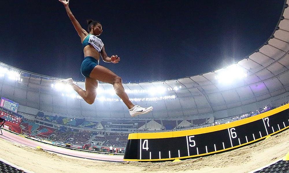 Eliane Martins, no Mundial de Atletismo