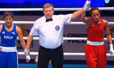 Grazieli de Jesus no Mundial de Boxe
