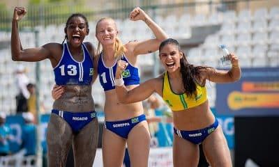 Seleção feminina de handebol de praia nos Jogos Mundiais de Praia